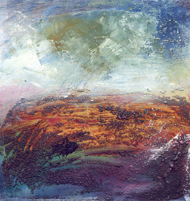 Arran II mixed media by Lesley Birch