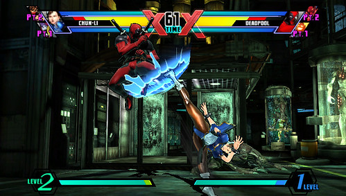 PS Vita - Ultimate Marvel Vs Capcom 3 Gameplay Footage