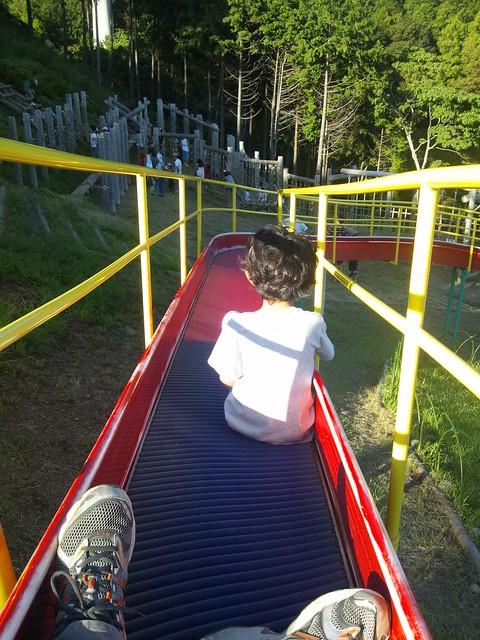 息子と一緒にローラースライダー-あいかわ公園の写真