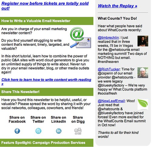 GameChanger: Email Marketing News from WhatCounts for 9/15/11