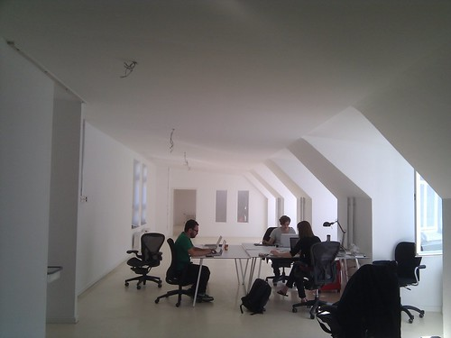 Setting up our temporary HQ