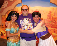 "To quote Genie, ""Big Group Hug!"" :) (disneyphilip) Tags: epcot hug jasmine morocco characters aladdin waltdisneyworld grouphug worldshowcase agrabah"
