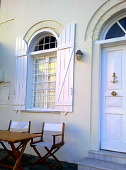 navy look (dimitra_milaiou) Tags: life door blue light shadow 2 two people white house window architecture island greek grey design living nokia wooden chair europe day aegean hellas greece hora bianco chora andros cyclades dimitra hellenic x6   aigaio   milaiou   plakoures