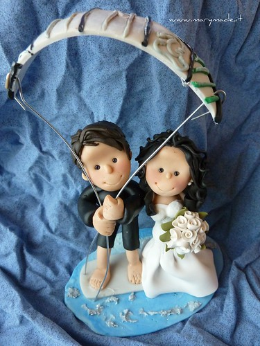 Il cake topper di francesca con kite surfer, una produzione marymade.it di Mary Tempesta, foto su Flickr