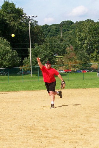 Dave pitching a double-header