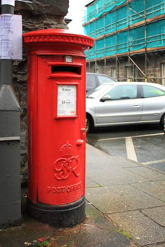 Red postbox by Helen in Wales