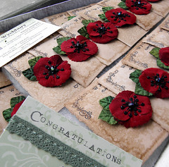 Anne's Wedding Favours (Wychbury Designs) Tags: wedding flower hair embroidery pansy pins textile fabric poppy accessories bridal custom brooches folksy favours