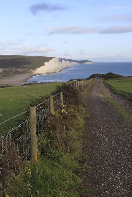 Seven Sisters from across Cuckmere Haven
