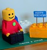 Lego Cake (Klaire with a Cake) Tags: cake lego little blocks tlc legoman cupcakery klairescupcakes