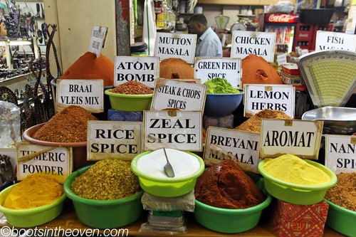 Some of the many spice blends available at Victoria Market