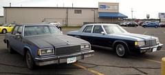 85 Buick LeSabre & 80 Dodge St.Regis (DVS1mn) Tags: blue two cars hardtop car minnesota sedan buick gm 80s dodge mopar lesabre 80 1980 1985 85 mn tone nineteen stregis fullsize generalmotors eighty wpc walterpchrysler 4door pillared nineteeneighty chryslercorporation