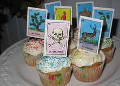 Lotería cupcakes by Lori