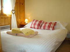 Double bed in ours Blanc (Alps Rentals) Tags: winter season for apartment rent chamonix