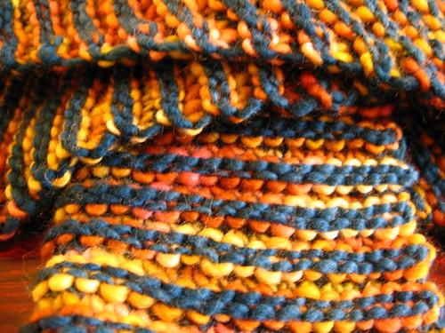 Double garter scarf