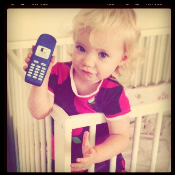 Delilah said the phone's for me! It's her daddy. lol