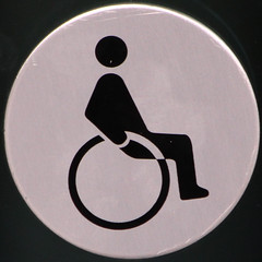 Disabled toilet (Leo Reynolds) Tags: sign canon eos iso800 wheelchair 300mm 7d squaredcircle f80 sqlondon signinformation hpexif 0002sec sqset068 xleol30x
