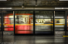 Full On [EXPLORED] [FRONT PAGE] (Aaron Yeoman) Tags: door city uk greatbritain travel red england urban white blur reflection london glass lines station yellow metal architecture modern speed train underground subway grey europe doors metro unitedkingdom sony transport perspective platform railway blurred line transportation gb tubestation londonunderground subwaystation alpha hdr highdynamicrange thetube jubileeline metrostation tfl tubetrain lul theunderground undergroundstation rapidtransit metrotrain a700 undergroundtrain waterlooundergroundstation metropolitanrailway tamronspaf1750mmf28xrdiii railtransport sonyalpha700 waterlootubestation dslra700