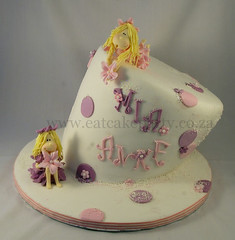 Mia&Anke fairies (Dot Klerck....) Tags: cake southafrica capetown dot fairy birthdaycake wellington fairies polkadot topsyturvy girlscake eatcakeparty