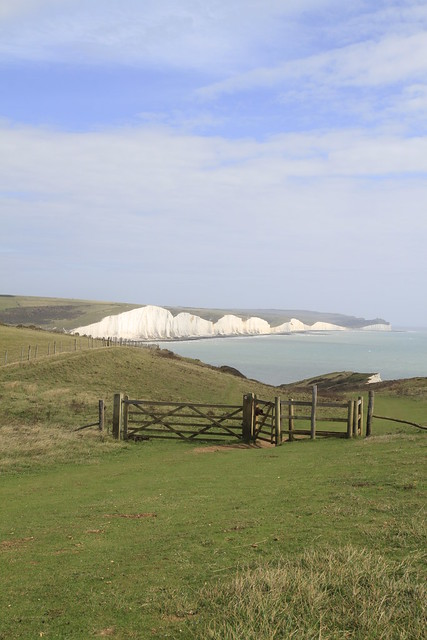 Seven Sisters from above Hope Gap