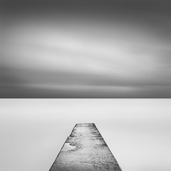 I N F I N I T Y (Weeman76) Tags: uk longexposure sea bw seascape monochrome mono nikon brighton infinity jetty minimal le southcoast minimalist d90 nd110 afszoomnikkor2470mmf28ged niksoft silverefexpro2