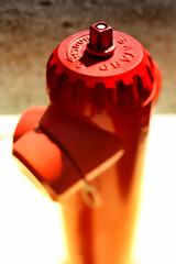 Red. (Jean-Marc Valladier) Tags: red blur dof firehydrant gettyimagesfranceq1