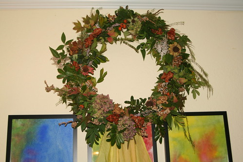 Finished Autumn Wreath with Flash