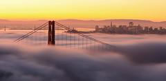 (A Sutanto) Tags: sf sanfrancisco california ca city morning bridge usa fog america dawn bay north goldengate ggb