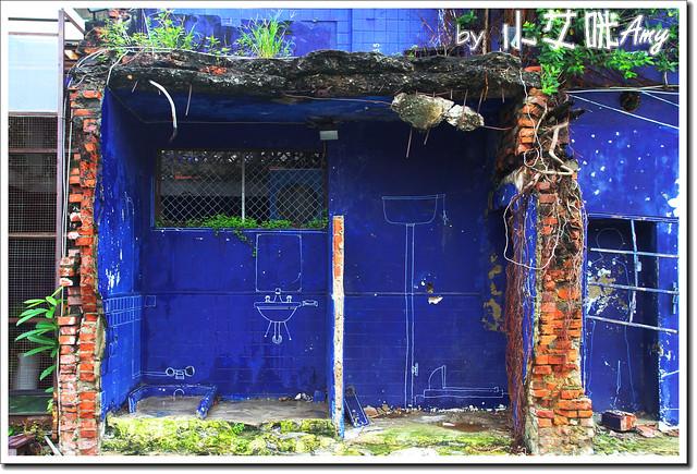 單車環島第四天 (29) 台南市海安路藝術街藍晒圖