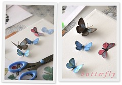 Paper butterfly (cafe noHut) Tags: butterfly diy craft crafting doityourself imadeit madeit