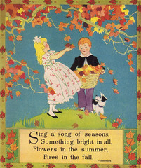 Sing a song of seasons by Janet Laura Scott (katinthecupboard) Tags: reader vintagechildrensbooks childrens vintage vintagechildrensillustrations illustrations vintagechildrensprimer vintagechildrensreaders vintagechildrenspoetry