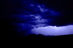 Electric sky (Templar Shadow) Tags: bleu ciel sombre nuages paysage nuit foudre clairs