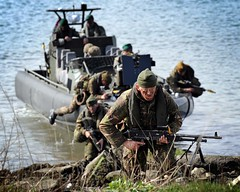 Royal Marines Trainees Practice Amphibious Operations (Defence Images) Tags: uk students training military landing devon british landingcraft defense recruits defence amphibious personnel royalnavy trainees beachlanding royalmarines identifiable hmsbulwark ctcrm