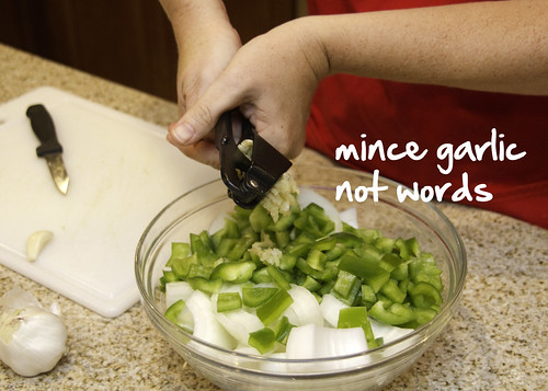 mince the garlic