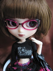 Mimi- New bod! (miss_skittlekitty) Tags: glasses punk doll goth pullip bruette rewigged adsiltia
