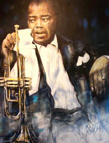 Louis Armstrong - Painting - Original