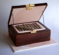 Cigar Box (Sweet Tiers) Tags: chocolate celebration birthdaycake cigars 3dcake cigarboxcake