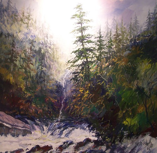 Capilano Canyon - Painting - Realism