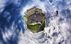 Self Portrait (BongoInc) Tags: panorama selfportrait nikon photographer snapshot fisheye georgiabulldogs topaz littleplanet stereographicprojection nikond90