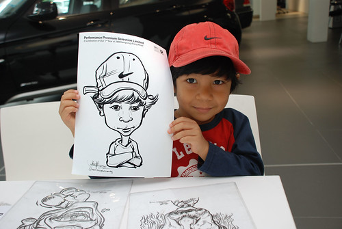 Caricature live sketching for Performance Premium Selection first year anniversary - day 3 - 2