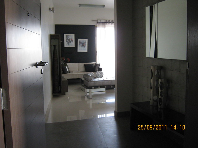 Entrance lobby of a 3 BHK Sample Flat in Tower 1 at Paranjape Schemes' Blue Ridge Hinjewadi Phase 1, Pune