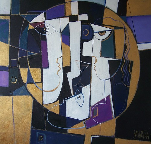 Circle of Love - Painting - Cubism