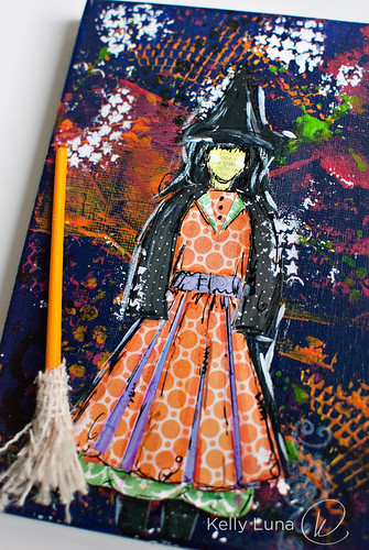 Halloween canvas-witch2