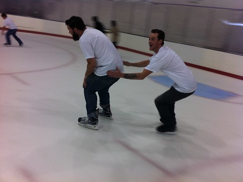 True love on the ice! @shakyawesome & Rory