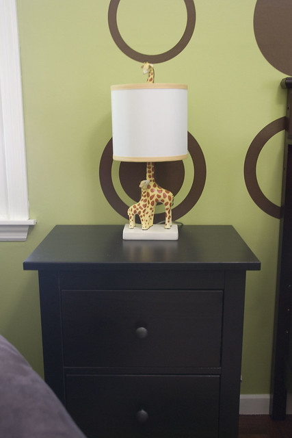 baby room nightstand and lamp