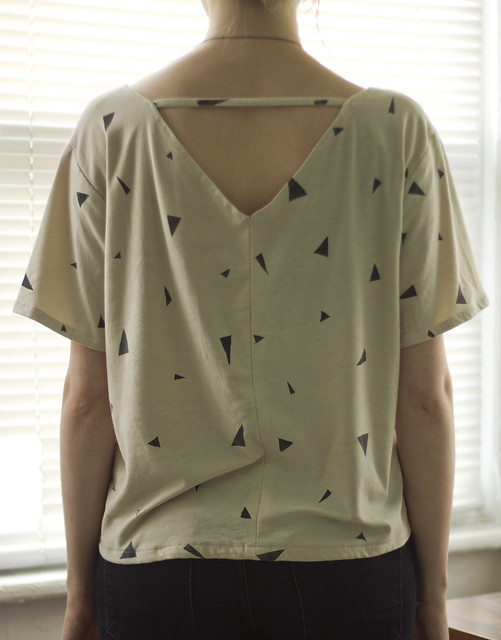 back of triangle shirt