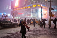 New York City winter (DaveMosher) Tags: nyc newyorkcity winter snow cold ice timessquare blizzard