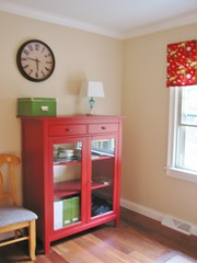 Ikea Office / Guest Room Remodel (Niesz Vintage Fabric) Tags: ranch red ikea office bedroom orla tan decorating renovation remodel inresidence guestroom kiely sofabed showyourhouse 70sranch