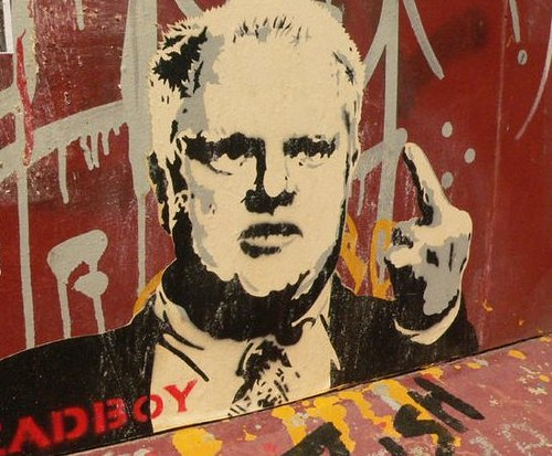 Deadboy graffiti: Rob Ford, Mayor of Toronto, giving people the finger