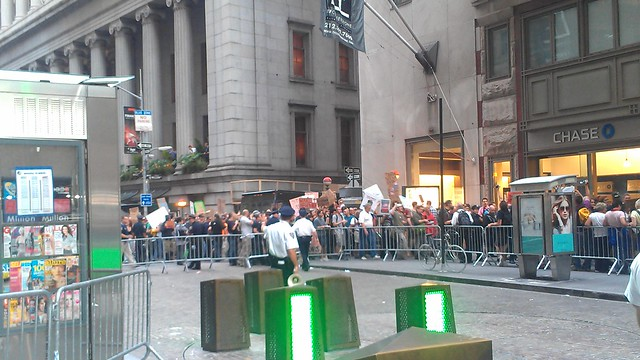 #OccupyWallStreet marches through Wall St