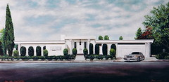 Chalon Road, Bel Air, California (Mark Longo Art & Design) Tags: art painting design acrylic architecturalrendering marklongo belairresidenceofsunsetplazaphotoowner